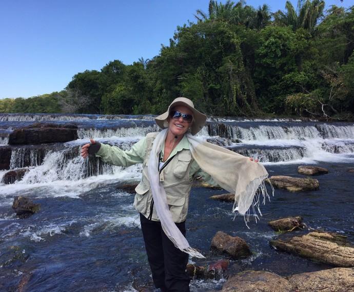 A apresentadora adora o contato com a natureza (Foto: André Corga)
