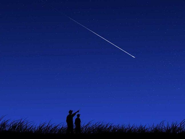 Estrela cadente (Foto: Arquivo Google)