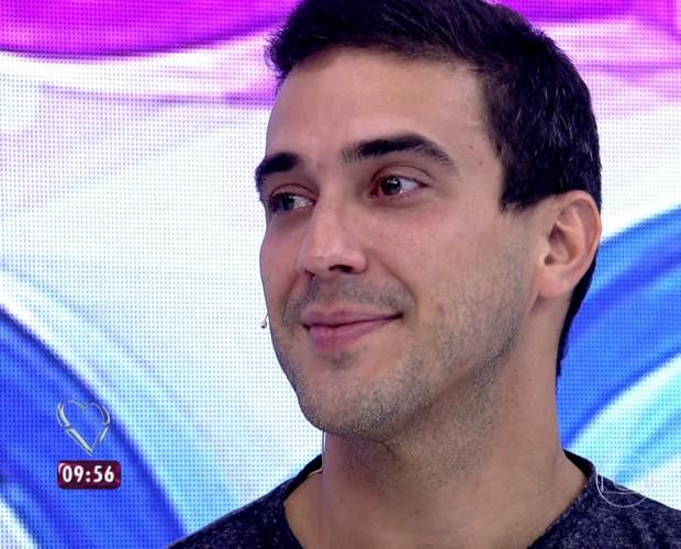 André Marques se emociona com homenagem (Foto: TV Globo)