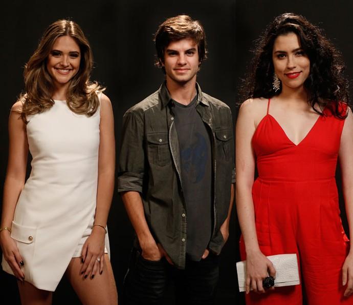 Atores comentam relação entre Cassandra, Fabinho e Débora (Foto: Raphael Dias/Gshow)