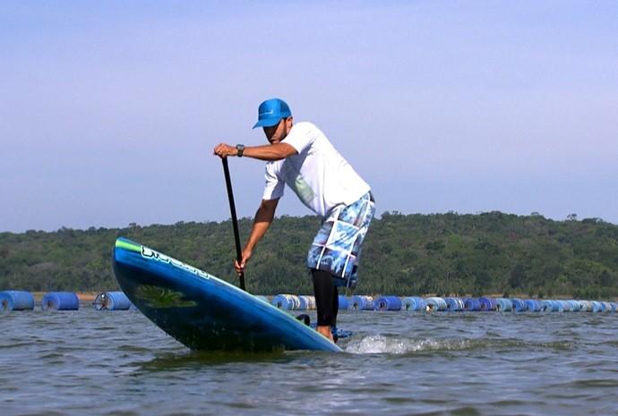 Represa de Itupararanga é um dos pontos mais procurados em Votorantim pelos fãs de esportes náuticos (Foto: Reprodução/TV TEM)