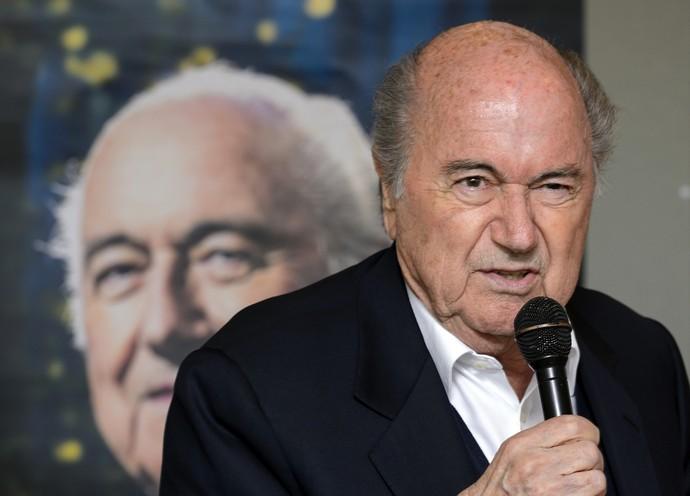 Joseph Blatter lançamento livro (Foto: AFP)