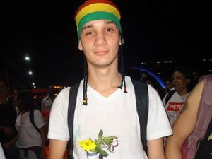 José Carlos dos Santos Costa, estudante de 20 anos (Foto: Priscilla Alves/ G1)