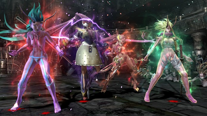 Demora um pouco para todas as personagens ganharem transformações em Onechanbara Z2: Chaos (Foto: Reprodução/Game Guyz)