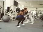Ivete Sangalo treina pesado na academia: 'Ter saúde é ter riqueza'
