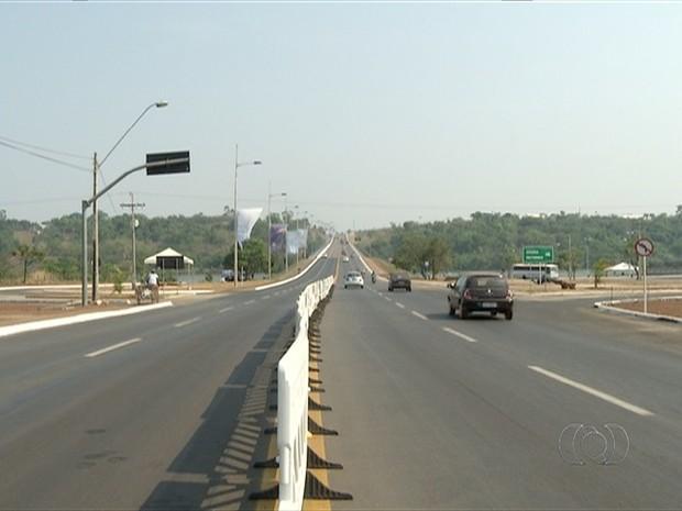 Avenida Theotônio Segurado será interditada para a cerimônia de abertura dos Jogos Mundiais dos Povos Indígenas (Foto: Reprodução/TV Anhanguera)