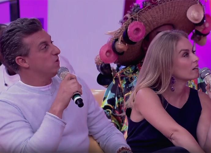Luciano Huck e Angélica adoram escutar as histórias de Hiago (Foto: Globo)