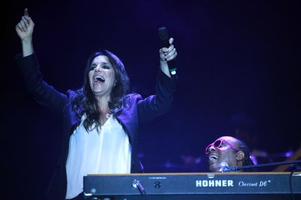 Ivete Sangalo e Stevie Wonder (Foto: Divulgação/Junior Aragão)