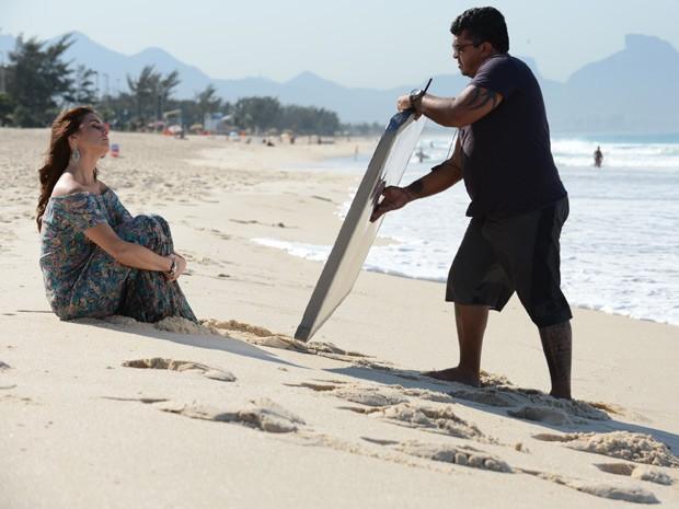 Giovanna Antonelli grava novas cenas de 'Em Família' (Foto: Raphael Dias/TV Globo)