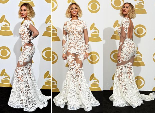 Beyoncé no Grammy (Foto: Agência AFP)
