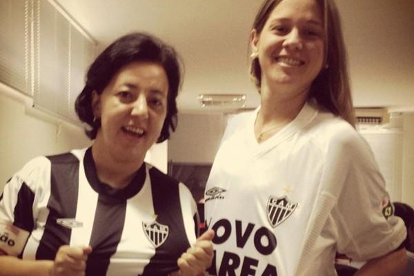 As torcedoras Eliane Mota e Carol Portílio  (Foto: Divulgação | TV Integração)