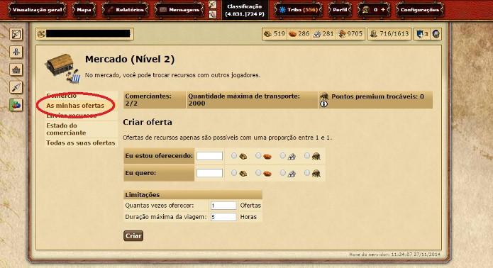 Utilize o menu do lado esquerdo para ter acesso às opções (Foto: Reprodução / João Moura)