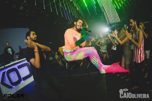 Davi Sereio em apresentação em festa no Rio (Foto: Reprodução / Facebook)