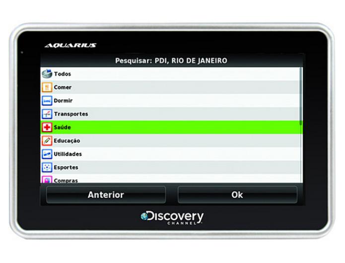 O Aquarius Discovery Channel oferece informações e nomes das ruas por voz (Foto: Divulgação)