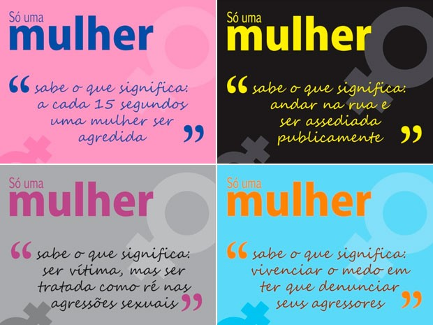 Campanha ONGs dia da Mulher (Foto: Reprodução)