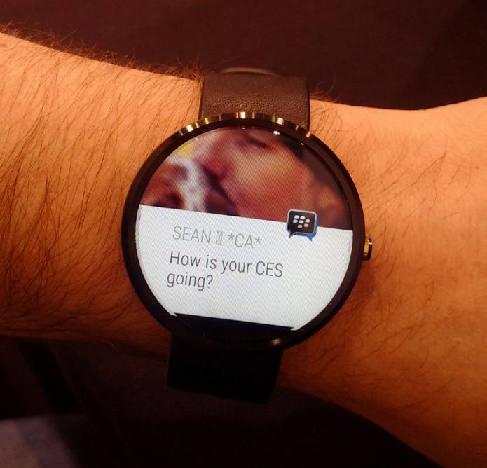 BBM vai chegar aos relógios com Android Wear (Foto: Divulgação)