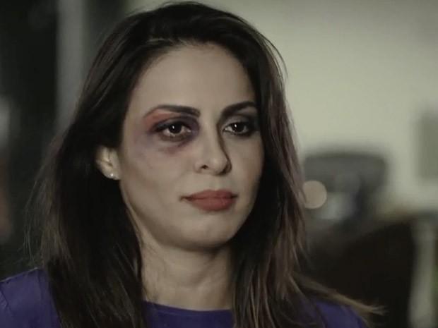 alinne rosa estrela campanha em combate a violencia contra a mulher (Foto: Reprodução/Campanha)