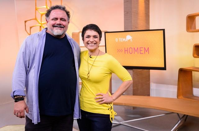 Leo Jaime e Sandra Annenberg (Foto: TV Globo)