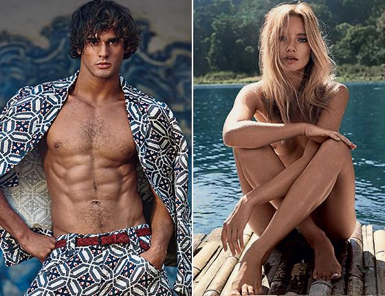 Marlon Teixeira e Maya Stepper (Foto: Philippe Vogelenzang e Caleb & Gladys/Wy Model)