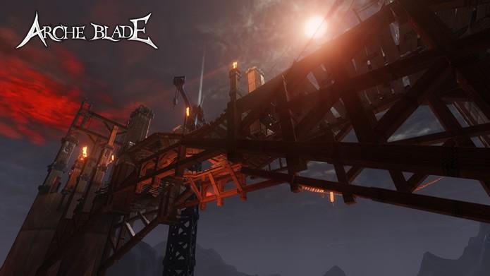 Apresentando os mais diversos ambientes, as arenas online do game contam com perigosos abismos e os mais diversos obstáculos (Foto: Divulgação/CodeBrush Games)