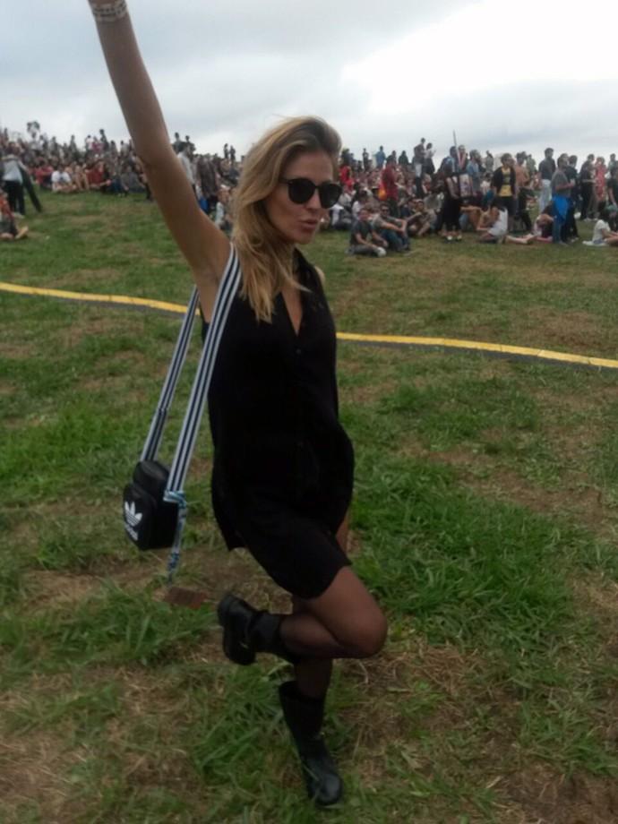 No Lollapalooza, Ellen Jabour conta que costuma frequentar shows de música (Foto: João Mello/Gshow)