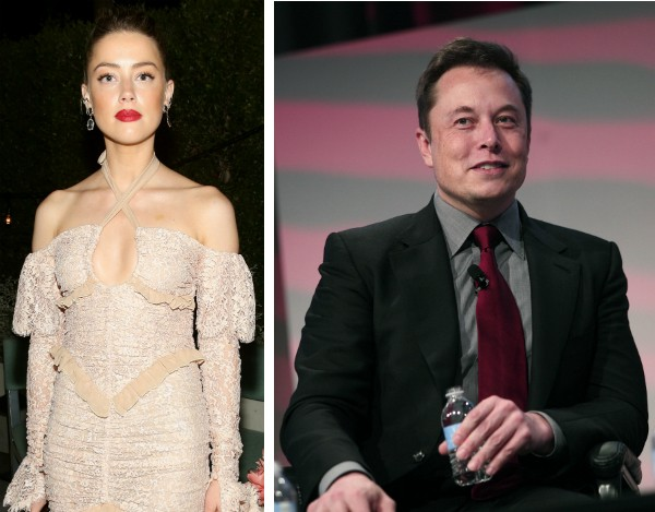 A modelo Amber Heard e o empresário Elon Musk (Foto: Getty Images)