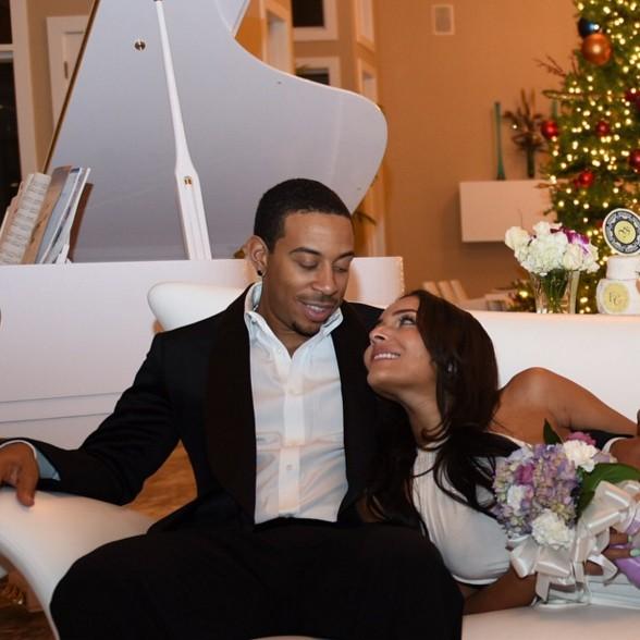 Ludacris e Eudoxie Mbouguiyengue (Foto: Reprodução)