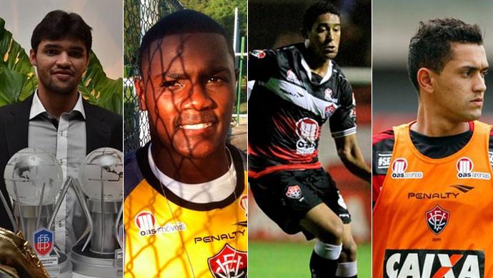 Leilson; Romulo; Edson Magal; Felipe; Vitória; montagem (Foto: GloboEsporte.com)