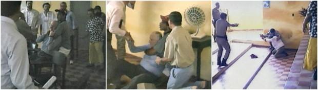 Arcebispo e visitantes são feitos reféns por detentos do IPPS. Ao todo, 14 tentaram fugir, mas não conseguiram. (Foto: TV Verdes Mares/Reprodução)