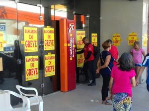 Categoria rejeitou proposta de reajuste salarial de 6,5% da Fenaban. (Foto: Leandro Silva/TV Verdes Mares)