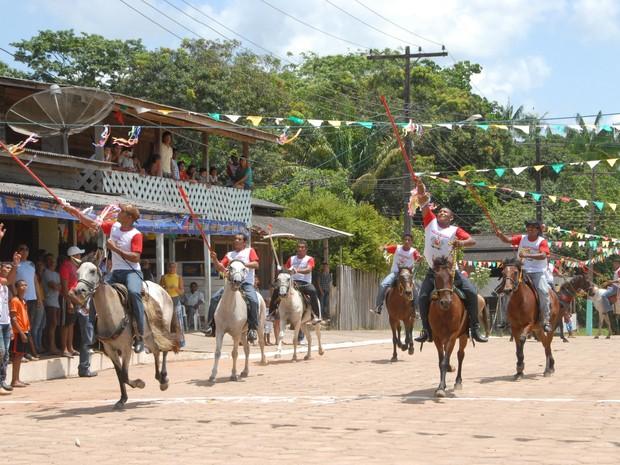 Município de Mazagão festeja padroeira (Foto: Gabriel Penha/G1-AP)
