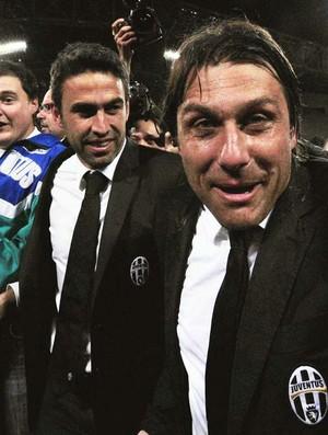Conte comemora título Juventus (Foto: AFP)