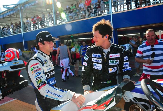 Nelsinho Piquet e Bruno Senna também representam o Brasil em Santa Catarina (Foto: Duda Bairros / Divulgação)
