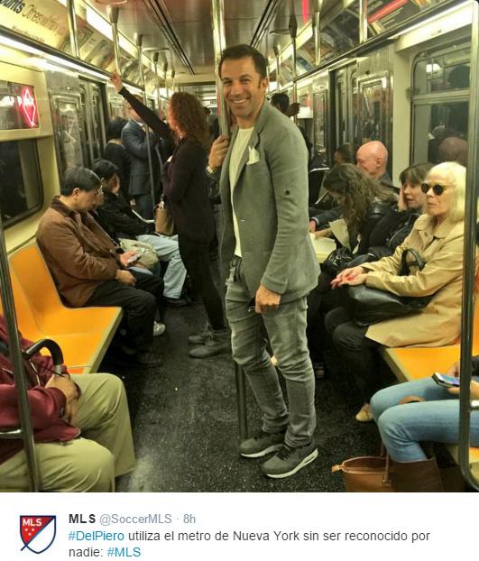 BLOG: Vida de craque nos EUA: Del Piero viaja despercebido em metrô de NY