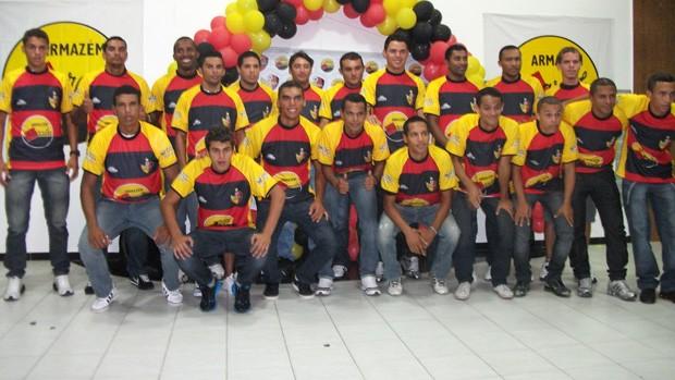 Apresentação do elenco do Paraíba de Cajazeiras (Foto: Divulgação)