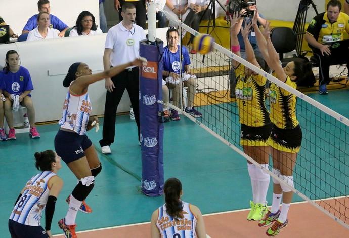Rio do Sul e São Caetano vôlei superliga feminina (Foto: Clóvis Eduardo Cuco/Rio do Sul)