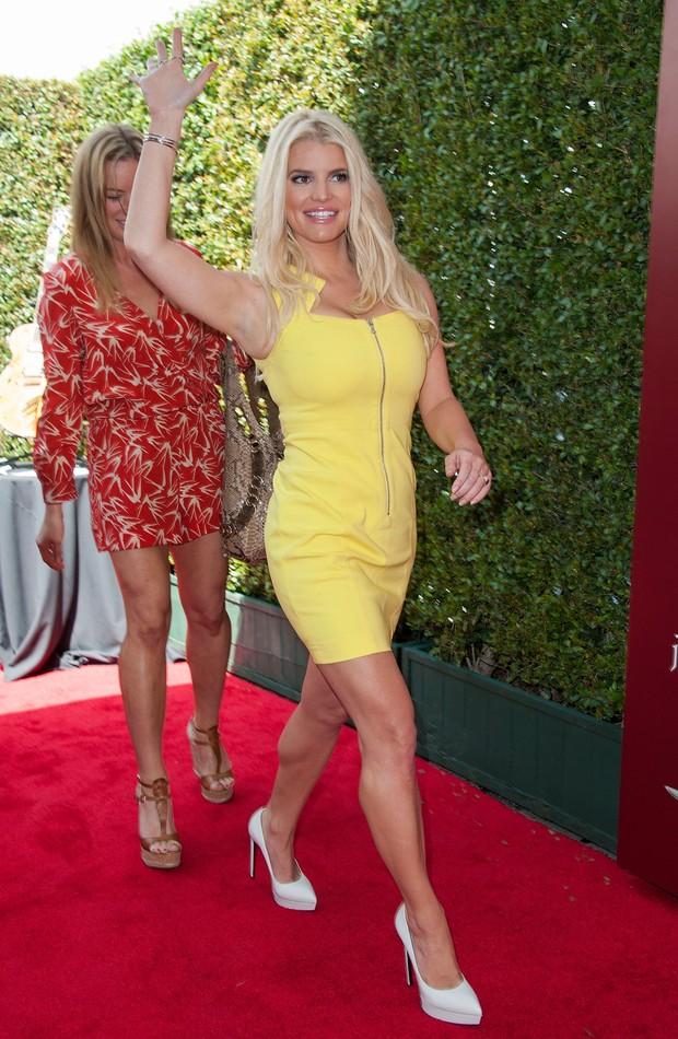 Jessica Simpson em evento beneficente em Los Angeles, nos Estados Unidos (Foto: Valerie Macon/ Getty Images)