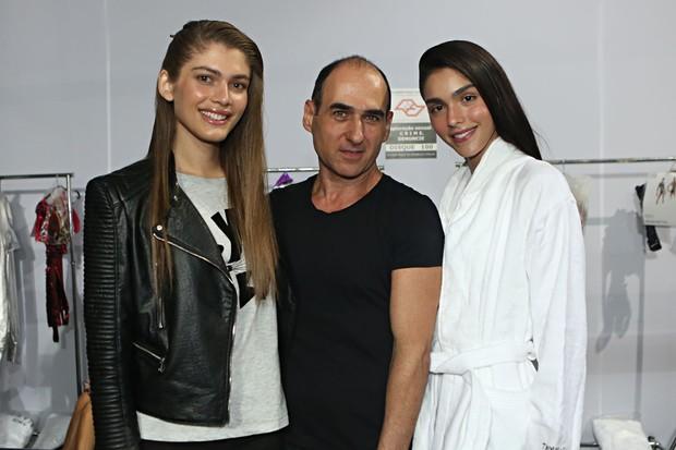 Valentina Sampaio, Amir Slama e Marcela Tomé (Foto: Celso Tavares / EGO)