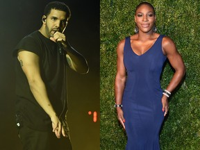 Drake e Serena Willians (Foto: Getty Images/ AFP)