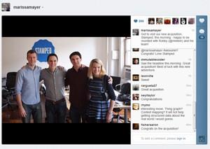 Marissa Mayer e o time da Stamped (Foto: Reprodução)