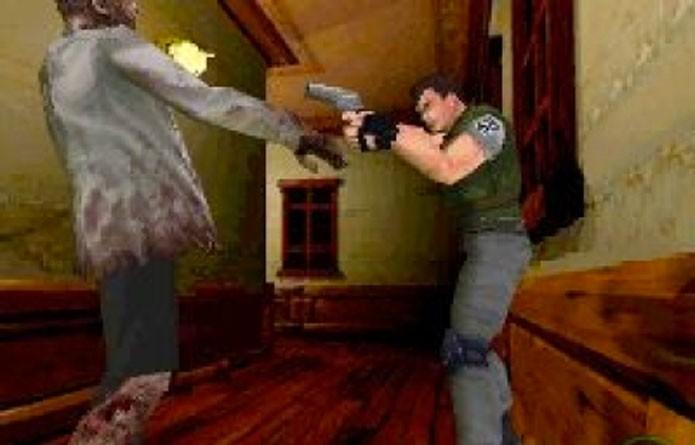Versão DS de Resident Evil tinha sangue verde (Foto: Reprodução/GameSpy)