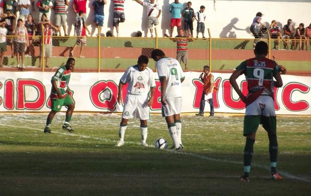 Palmeira vence o Santa Cruz-RN no Iberezão (Foto: Tiago Menezes/GLOBOESPORTE.COM)