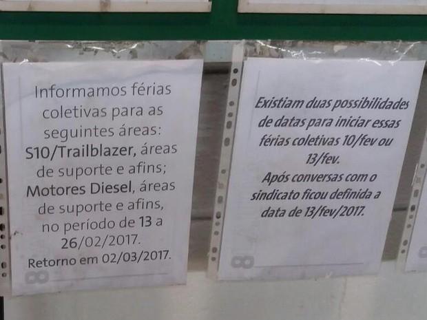 Funcionários que produzem a S10 na GM de São José devem entrar em férias coletivas (Foto: Arquivo pessoal)
