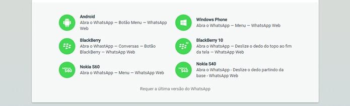 Confira os sistemas suportados pelo WhatsApp Web (Foto: Reprodução/Barbara Mannara)
