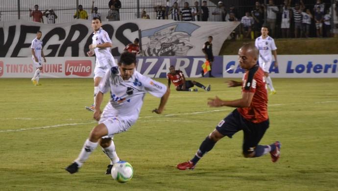 João Paulo - atacante do ABC  (Foto: Jocaff Souza/GloboEsporte.com)