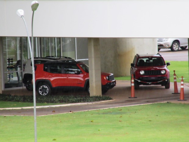 Jeep Renegade em hotel de Brasília (Foto: Luciana de Oliveira / G1)