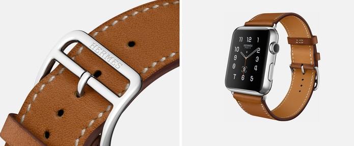 a5920ab5fc8 Versão com pulseira simples em couro (Foto  Divulgação Apple)