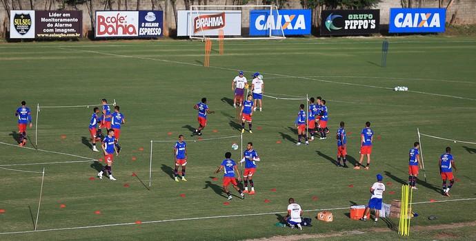 Elenco do Bahia treina no Fazendão (Foto: Felipe Oliveira / Divulgação / E.C. Bahia)