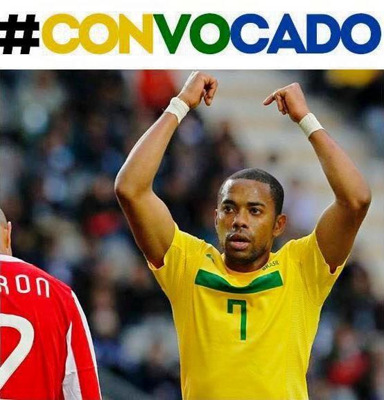 Robinho comemora convocação para a Copa América