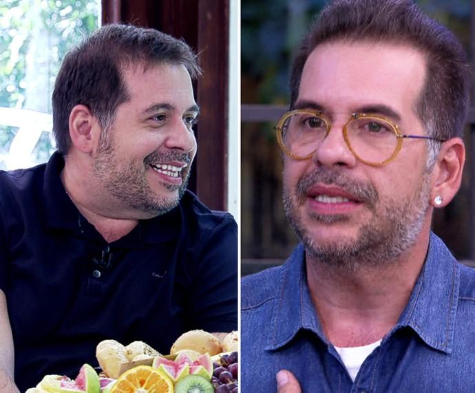 Leandro Hassum: comparação após emagrecimento (Foto: TV Globo)